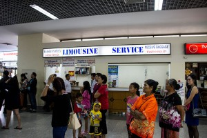 At this counter you buy the ticket to Udon Thani bus station.