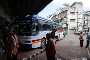 This is the bus to Vientiane.