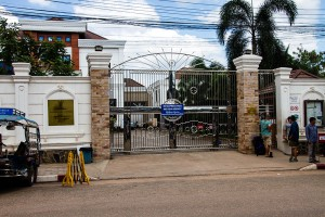 The Thai consulate in Vientiane when closed.