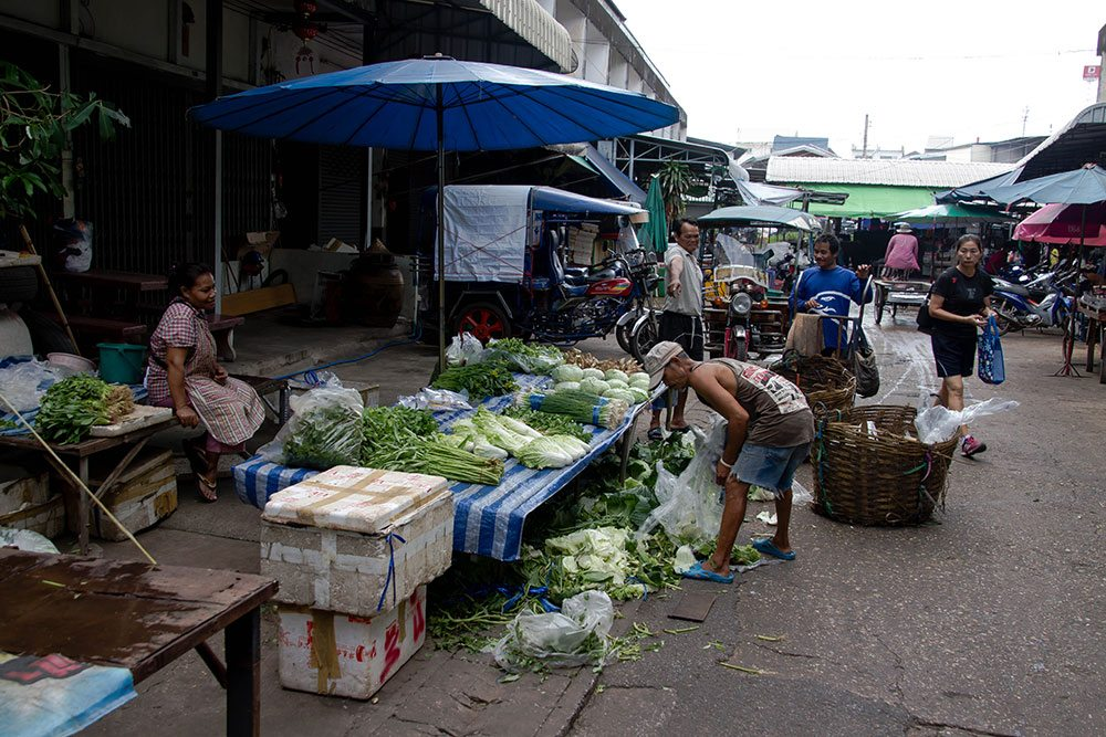 Udon Thani street life in one of the 5 major cities in Esan,