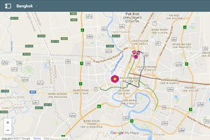 Bangkok Browse by map