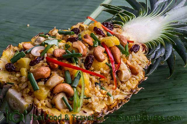 "Pineapple fried rice or in Thai ""khao pad sapparot"""