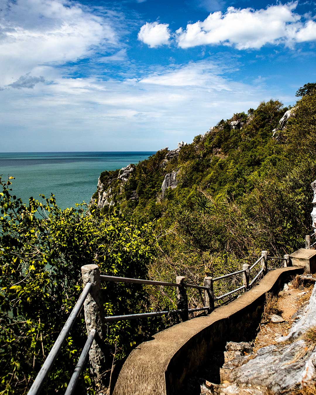 Over the top and on the way down to Laem Sala beach. Phraya-Nakhon-Cave-